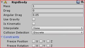 """Unity] Script: I tried to move game objects by """"Rigidbody""""  – Lab7"""