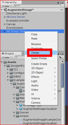 Unity, AR] The setting way of 'Augmented Image' of 'ARCore' Part2